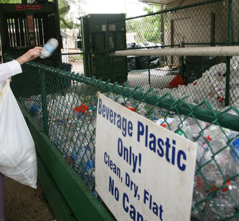 Mary Alice Morrison recycling plastic drink bottles, Aug. 12, 2008. City boosts recycling efforts. According to Bob Haskins of Keep Mobile Beautiful,  the volume being recycled has increased  at their 1451 Government Street address. (Press-Register / Mary Hattler) metro
